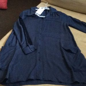 ZARA NWT NAVY BLUE DRESS